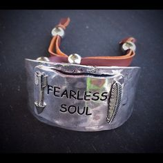 Fearless Soul Silver Cuff Bracelet Brand new fearless soul cuff bracelet. Western, gypsy, boho, free spirit, cactus style. For more fabulous jewelry checkout my Instagram @cowgirlupauctions Jewelry Bracelets