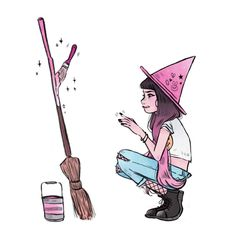 """6,370 Likes, 31 Comments - m i c h e l l e (@procrastiartist) on Instagram: """"some little witch girl I'm exploring on. ✨ ( she's different from the rest of the old fashioned…"""""""