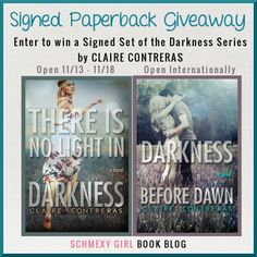 Spotlight: Review & Giveaway-There is No Light in Darkness by Claire Contreras  http://www.schmexygirlbookblog.com/spotlight-review-giveaway-there-is-no-light-in-darkness-by-claire-contreras/
