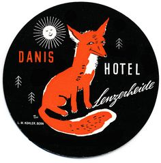 Really like this vintage hotel luggage label