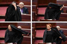 बुर्का पहनकर ऑस्ट्रेलियाई संसद में घुसी पॉलिने, हंगामा | Punjab Kesari