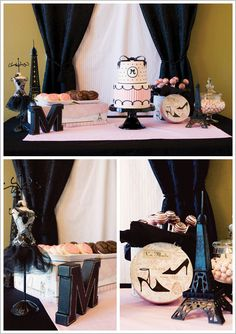 Paris themed birthday party. @Tandy Larson Larson Larson Larson #parisDecor