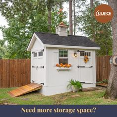 Ulrich's custom sheds allow you to design a perfect storage solution for your backyard! Built with the highest quality and boasting the longest warranties in the nation, Ulrich is prepared to transform your backyard and free up precious space in your home.