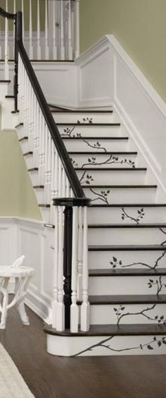 1000+ ideas about Painted Stairs on Pinterest | Stairs, Stair Risers and Painted Stair Risers