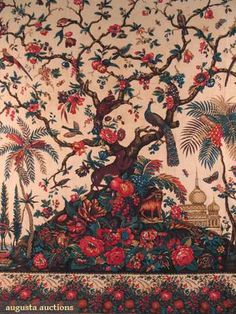 Augusta Auctions, October 2008 Vintage Clothing & Textile Auction, Lot 330: Two Block Printed Mezzaros, Italy, 19th C