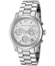 Michael Kors Women's Chronograph Silver Dial Stainless Steel