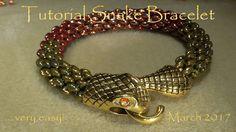 Tutorial Snake Bracelet ... very easy! - March 2017