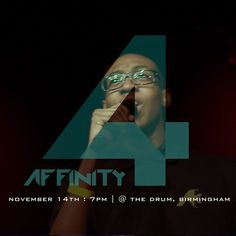 Entitled at Affinity 3 ...Who will be at Affinity 4? Find out Nov 14th @the_Drum ! #Affinity4 #GL360