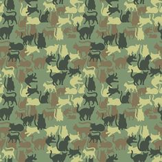 Catmouflage, A Camouflage Pattern With Cats via Laughing Squid