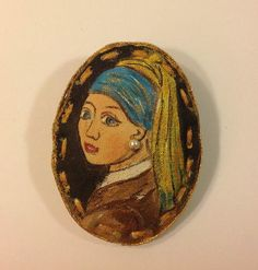 Hand painted brooch-textile brooch-Trending от NatashaArtDolls