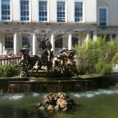 Neptunes Fountain in the Promenade Cheltenham. The fountain is based on the Trevi fountain in Rome and was added to the Long Gardens in the Promenade in 1893. (photograph by Vikki Dean)