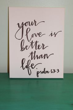 Handdrawn Bible Verse Canvas / Love Quote Canvas by accreweddesign, $25.00