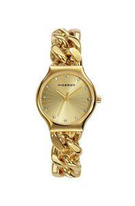 Este modelo reloj Viceroy, es una pieza exclusiva de joyeria, por su originalidad en su correa en forma de pulsera y todos sus acabados en color oro y acero. www.relojes-especiales.net #femenino #mujer #oro