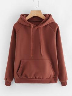 Coffee Kangaroo Pocket Drawstring Hoodie Long Sleeve Sporting Pullovers Sweatshirts Women Casual Sweatshirts Brown M Sweatshirt Outfit, Pullover Hoodie, Sweater Hoodie, Hoody, Trendy Hoodies, Hoodie Sweatshirts, Fall Outfits, Casual Outfits, Cute Outfits