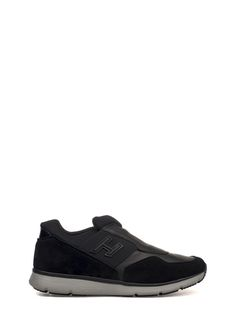 HOGAN Black H254 Traditional 2015 Slip On Suede Sneakers. #hogan #shoes #