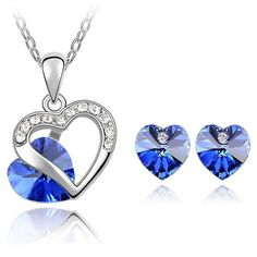 Swarovski White Gold Plated Austrian Crystal Heart Pendant Necklace Earrings Stud Crystal Jewelry Sets For Women //Price: $25.99 & FREE Shipping //     #accessories #necklaces #pendants #earrings #rings #bracelets    FREE Shipping Worldwide     Get it here ---> https://www.myladyempire.com/austrian-crystal-heart-pendant-necklace-earrings-stud-crystal-from-swarovski-white-gold-plated-jewelry-sets-for-women-4351/