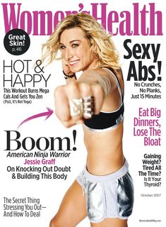 Women\'s Health readers strive to better their whole lives. And that\'s exactly why Women\'s Health reports on all the topics that interest them. In every issue you\'ll find topics on success strategies, nutrition, weight loss, health, fitness, special reports, sex & relationship, beauty breakthroughs, and style & fashion. Jessie Graff, At Home Workout Plan, At Home Workouts, Fat Burning Cardio, American Ninja Warrior, Womens Health Magazine, Workout Regimen, Health And Fitness Tips, Fitness Nutrition