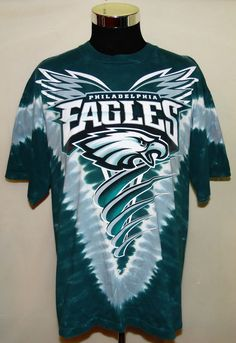 Philadelphia Eagles NFL Football Vintage NFL Brand Tye Dye T-Shirt Size XL USA #NFL #PhiladelphiaEagles