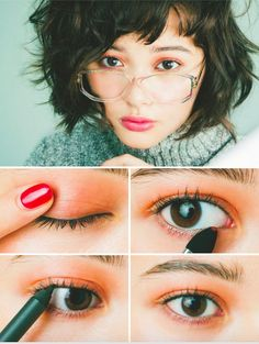 korean/japanese eye makeup                                                                                                                                                                                 More