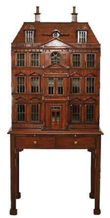 """Maitland-Smith Georgian Dollhouse Drinks Cabinet - 69"""""""