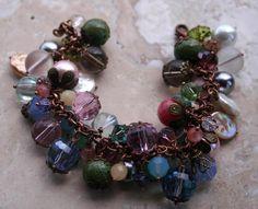 Earthy Rustic Bracelet / Woodland Bracelet / Gypsy by MissieRabdau, $67.00