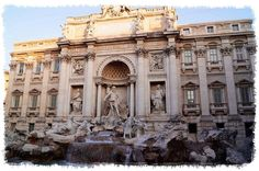 Throw a coin in the fountain and you'll always return. This is the Trevi Fountain in Rome.