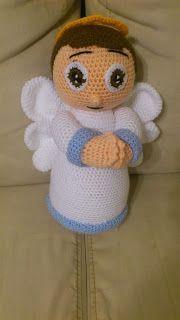 Amigurumi Crochet Angel Doll Free Pattern - Amigurumi Free Patterns and Amigurumi Tutorials Crochet Santa, Crochet Angels, Knit Or Crochet, Crochet Crafts, Crotchet, Yarn Projects, Crochet Projects, Crochet Bookmarks, Crochet Amigurumi Free Patterns