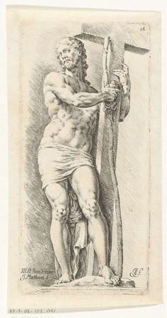 Jan de Bisschop | Christus met kruis en andere passiewerktuigen, Jan de Bisschop, 1668 - 1671 |