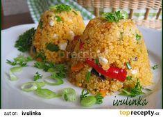 Kuskus se sýrem cottage a zeleninou recept - TopRecepty. Fried Rice, Baked Potato, Potatoes, Cottage, Baking, Health, Ethnic Recipes, Diet, Health Care