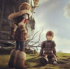 Hiccstrid in HTTYD 2. I love how Astrid is always so supportive of him. This scene was very well done and really helped to show what a stable, healthy, and loving relationship they have. :)