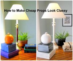 Ebony and Ivory: The Ultimate Color Scheme | DIY Home Staging Tips: spray paint, latex paint, covered books