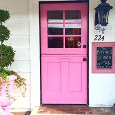 pink door and storefront  Balboa Island, Newport Beach, Ca