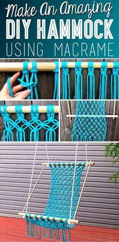 macrame plant hanger+macrame+macrame wall hanging+macrame patterns+macrame projects+macrame diy+macrame knots+macrame plant hanger diy+TWOME I Macrame & Natural Dyer Maker & Educator+MangoAndMore macrame studio Crochet Hammock, Diy Hammock, Hammock Chair, Hammock Knots, Hammock Ideas, Hammock Swing, Outdoor Hammock, Outdoor Lounge, Diy Crochet