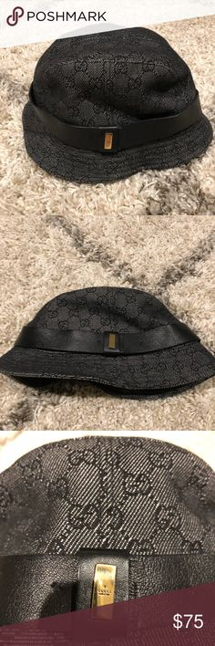 7a40918943908 Authenticity Black monogrammed Gucci bucket hat Black monogram Gucci bucket  hat