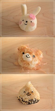Kawaii Onigiri Kawaii Bento, Cute Bento, Bento Box Lunch, Bento Kids, Lunch Boxes, Japanese Food Art, Japanese Rice, Kawai Japan, Sushi Art