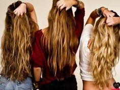 Awesome tips for growing long hair...lots of homemade hair treatments! Yup, I need to do all of these things!