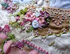I ❤ crazy quilting & ribbon embroidery . . . November CQJP 2013 details ~by NickiLee