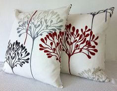 Two handmade vanilla floral cushion covers, slip covers, throw pillows, decorative cushions, accent pillows