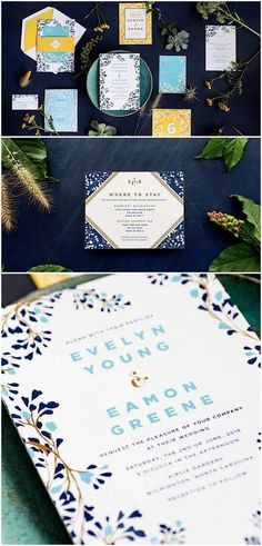 Wedding Invitations for Every Style of Celebration by Hello Tenfold #weddinginvitation