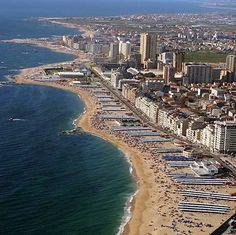 Póvoa de Varzim, Portugal Douro Portugal, Visit Portugal, Spain And Portugal, Portuguese Culture, Travel Set, Famous Places, Most Beautiful Cities, France, Aerial View