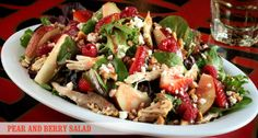 Pear and Berry Salad (Bubba Gump).. I've had this and it's yummy!!