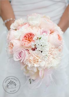 Soft Peach Wedding Bouquet Keywords: #weddings #jevelweddingplanning Follow Us: www.jevelweddingplanning.com  www.facebook.com/jevelweddingplanning/