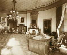The Yellow Oval Room White House 1886