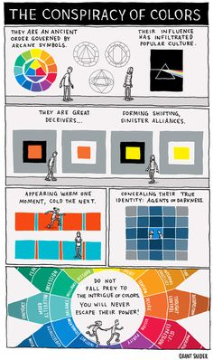 The conspiracy of colors [comic] by Grant Snider - Holy Kaw!