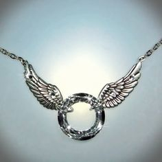 Halo Necklace - Get it here at www.SusanaManzana.com  - Please do not copy design, it is very personal & created in memory of a lost loved one.