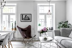 Objektsida | Svenska Mäklarhuset Arch Interior, Interior Styling, Interior Decorating, Interior Design, Living Room Inspiration, Interior Inspiration, Eames, Swedish Interiors, Master Room