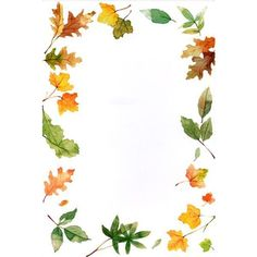 """Four seasons"": ""Leaves"" letter pad Page Borders, Borders And Frames, Fall Crafts, Diy And Crafts, Paper Crafts, Leaf Border, Autumn Activities, Vintage Diy, Writing Paper"