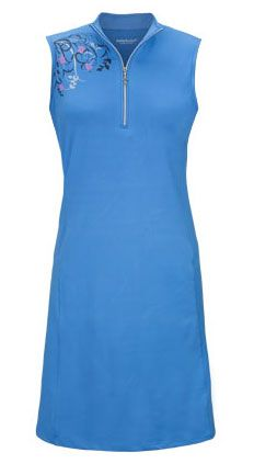 You gotta have this on the golf course! Bette & Court/Swing Ladies & Plus Size Sleeveless Golf Dress - Standing Ovation (Bluejay) #Sports #Outfit #Ladies #Fashion #Apparel  #Golf #Dress #blue