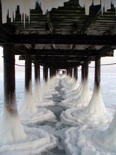 Plate-forme glacée