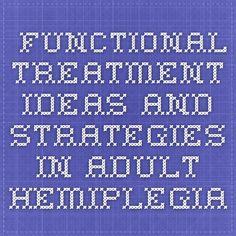 Functional Treatment Ideas and Strategies in Adult Hemiplegia